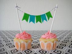 cupcake bandeirinha