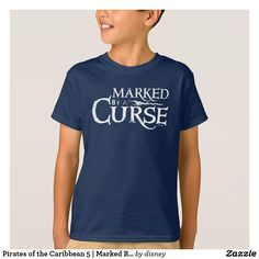 Pirates of the Caribbean 5 | Marked By A Curse. Producto disponible en tienda Zazzle. Vestuario, moda. Product available in Zazzle store. Fashion wardrobe. Regalos, Gifts. Trendy tshirt. #camiseta #tshirt