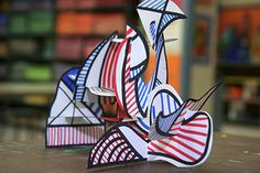 Jean Dubuffet Sculptures - 6th grade art project with youtube tutorial embedded