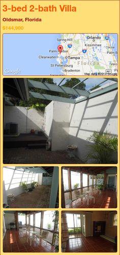 3-bed 2-bath Villa in Oldsmar, Florida ►$144,900 #PropertyForSale #RealEstate #Florida http://florida-magic.com/properties/79389-villa-for-sale-in-oldsmar-florida-with-3-bedroom-2-bathroom