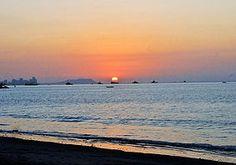 Sunset on Cautivo Beach South Coast of Ecuador