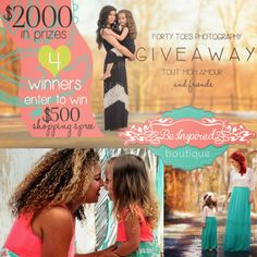 We have 4 Shopping Sprees to Be Inspired Boutique! Worth over 2000 dollars! Enter HERE https://gleam.io/fb/ZeccS