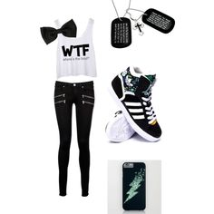 Untitled #41 by chelsea-onti on Polyvore featuring polyvore, fashion, style, Paige Denim and adidas