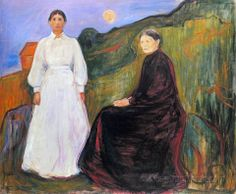 Mother and Daughter  Edvard Munch