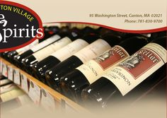 At Canton Wine & Spirits, they've got just about everything.. beer, wine, and liquor. Win a Gift Certificate and use it towards your alcohol purchase. www.cantonvillagewine.com