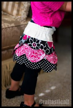 Craftastical!: Tutorial: Toddler Sized Petal Skirt Pattern