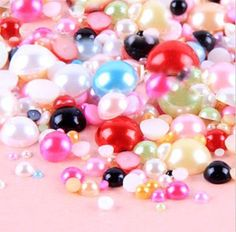 LOVEKITTY -- 800 pc Mixed Colors Mixed Sizes Flat back Pearl Cabochons by Lovekitty UFindings http://www.amazon.com/dp/B008NGKFNK/ref=cm_sw_r_pi_dp_1.LXtb0V4CNMD29Z