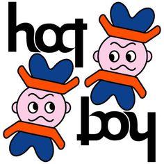 "Upside Down character""hat boy"" Optical illusion,Hidden picture, http://asobidea.co.jp/en/service/illusion/"