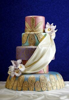 Luxurious royal cake | Real-Life Fairy Tale Wedding: An Aladdin  Jasmine Disney Wedding | Estate Weddings and Events