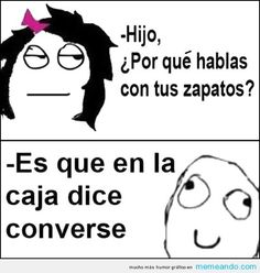 Omg omg how this is so hilarious! I laughed reading this when I was in a serious type of convo. Felt so bad lol Memes Humor, Frases Humor, Funny Jokes, Hilarious, Spanish Jokes, Funny Spanish Memes, Mundo Meme, Funny Moments, Best Memes