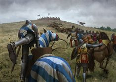 Battle of Inglesmendi by EthicallyChallenged on DeviantArt Fantasy Battle, Fantasy Rpg, Medieval Fantasy, Fantasy World, Dark Fantasy, Medieval Knight, Medieval Armor, Valhalla, Armadura Medieval