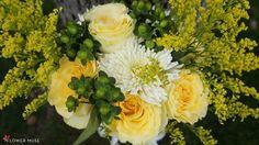 DIY Bouquet Recipe: Summer Yellow & White on Flower Muse blog