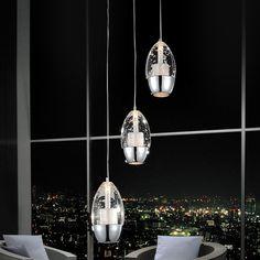 CrystalWorld Perrier 3 Light Mini Pendant | AllModern