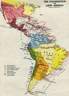 Latin America physical map Latin America Pinterest