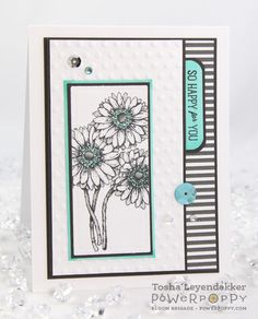 Dynamic Duos: Glads and Gerberas Stamp Set. Stamps by Power Poppy, Card Design by Tosha Leyendekker!