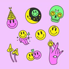 Trippy Hippie, Hippie Art, Psychedelic Art, Presets Photoshop, Abstract Illustration, Broderie Simple, Trippy Drawings, Doodle Tattoo, Funny Stickers