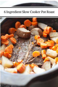 6 Ingredient Slow Cooker Pot Roast | DeliciouslyOrganic.net (grain free, paleo)