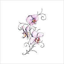 Bildergebnis für tattoo orchidee