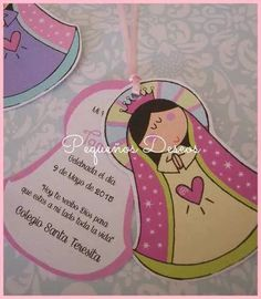 Ideas Bautizo, First Communion Decorations, Baptism Party, Diy Invitations, 5th Birthday, Princess Peach, Cardmaking, Holi, Origami
