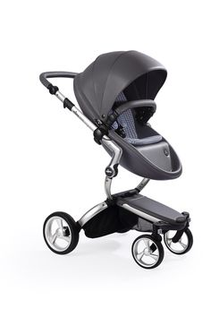 Mima Xari - Cool Grey Seat, Retro Blue Starter Pack   The only stroller made with leatherette fabric, the Mima Xari is more than a pretty face. With a chic design and advanced features, this highly-customizable stroller strikes the perfect balance of fashion and functionality.