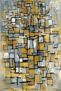 Tableau No. 1 / Piet Mondriaan / 1913 / oil on canvas (Piet Mondriaan 1872 - 1944)