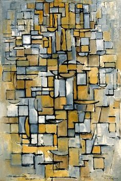 Tableau No. 1 / Piet Mondriaan / 1913 / oil on canvas                                                                                                                                                                                 More