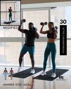 Upper Body Hiit Workouts, Full Body Hiit Workout, Gym Workout Videos, Dumbbell Workout, Gym Workouts, Fitness Herausforderungen, Fitness Workout For Women, Fitness Motivation, Muscle Fitness