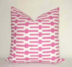 Pillow Cover  Decorative  Pillow  Throw Pillow  Toss by kyoozi, $46.00. lots of pink!!!!!!!!!!