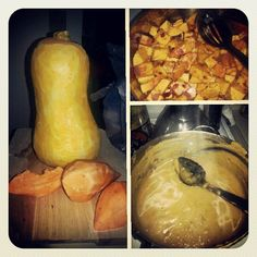 Butternut Squash and Sweet Potato Soup #organic #healthy #dinner #lunch #recipe #soup #butternutsquash #sweetpotato