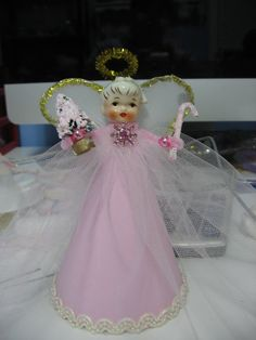 Pink Tulle Vintage Style Holt Howard Angel by MarshmallowCreations, $40.00
