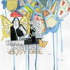 Balzer Designs: TCW223 Fragmented Flower Stencil
