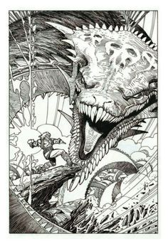idwcomics: Gorgeous line art from Walter Simonsons Ragnarök...  idwcomics:  Gorgeous line art from Walter Simonsons Ragnarök Artists Edition Portfolio.  IDW Publishing interviewed Walter Simonson about his personal experience writing for Marvels Mighty Thor creating the character of Beta Ray Bill and continuing his love of writing about Norse mythology in his creator-owned series Ragnarök.https://youtu.be/MXzpaaTfF2Q