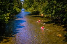 Kayaking through town is possible in the Roanoke Valley of Virginia!