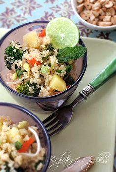 Gluten-Free+Goddess+Recipes:+Quinoa+Salad+with+Pineapple,+Broccoli,+and+Mint