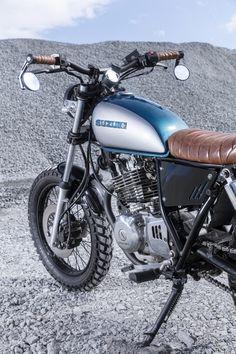 Suzuki Scrambler by Purpose Built Moto Honda Scrambler, Scrambler Custom, Custom Cafe Racer, Custom Motorcycles, Custom Bikes, Street Scrambler, Tracker Motorcycle, Moto Bike, Cafe Racer Motorcycle