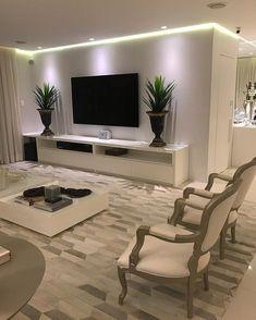 40 tv wall living room ideas decor on a budget 2 Living Room Tv Unit, Living Room Decor Cozy, Home Interior Design, Living Room Designs, Family Room, House Design, House Styles, Design Case, Wall Design