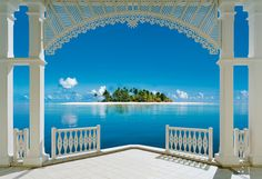 Island View Wall Mural - imagine this on your wall!
