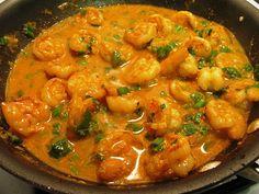 Thai Coconut Curry Shrimp (4 Weight Watchers PointsPlus)