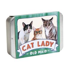 Chronicle Books Cat Lady Old Maid (Cat Gifts for Cat Lovers, Cat Themed Card Game) Cat Lover Gifts, Cat Gifts, Cat Lovers, Crazy Cat Lady, Crazy Cats, Classic Card Games, Book Gifts, Stocking Stuffers, Fluffer Nutter