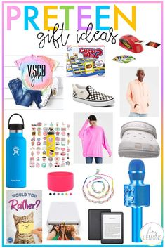 Preteen Girl Gift Ideas:  Gift ideas for the preteen/tween girls in your life, gifts for Christmas, birthdays, and more