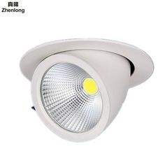 10W 15W 20W 30W 50W COB Led downlights Surface Mounted Ceiling Spot light 360 degree Rotation Ceiling Downlight White AC85-265V #Affiliate
