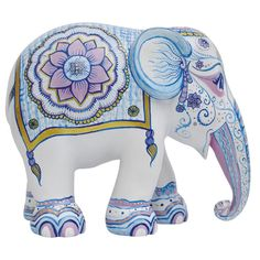 Indian Blues Pasta Piedra, African Forest Elephant, Indian Elephant, Elephant Art, Elephant Love, Colorful Elephant, Spirit Animal, Elephant Parade, All About Elephants