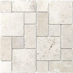 Anatolia Tile Chiaro Mixed Pattern Mosaic Travertine Wall Tile (Common 12 in x 12 in; Actual 12 in x 12 in) Natural Stone Wall, Natural Stones, Natural Stone Backsplash, Stone Mosaic, Stone Tiles, Cement Tiles, Mosaic Wall Tiles, Tiles Texture, Stone Flooring