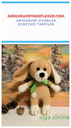 We share a great amigurumi dog making for you. - We share a great amigurumi dog making for you. Looks so sweet. I hope you knit with pleasure. Diy Origami, Online Background Check, Koi, In Kindergarten, Crochet Toys, Retro, Spring, Sewing Patterns, Teddy Bear