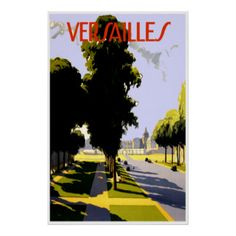 Versailles France ~ Vintage French Travel Ad Print
