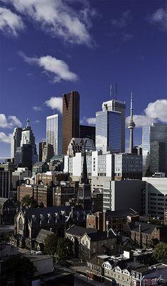 Scraping the Sky Toronto Skyline, Toronto City, Toronto Architecture, Futuristic Architecture, Travel Around The World, Around The Worlds, Toronto Ontario Canada, Toronto Photography, Birds Eye View