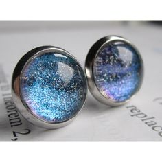 Hydrogen - Earring studs - science jewelry - science earrings - galaxy... ($11) ❤ liked on Polyvore featuring jewelry, earrings, fake jewelry, stud earrings, sparkle jewelry, sparkly earrings and imitation jewellery