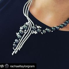 #Regram from @rachaeltaylorgram - our exquisite #Tahitianpearl and #diamond…