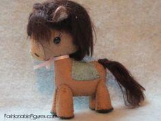 cute idea. Felt Toy Pony DollBrown Pony With Dark Brown by FashionableFigures, $21.99