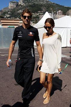 (L to R): Jenson Button (GBR) McLaren with girlfriend Jessica Michibata (JPN).  Formula One World Championship, Rd 6,  Monaco Grand Prix, Race Day, Monte-Carlo, Monaco, Sunday, 29 May 2011
